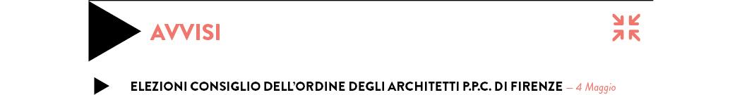 ELEZIONI CONSIGLIO DELL'ORDINE DEGLI ARCHITETTI P.P.C. DI FIRENZE