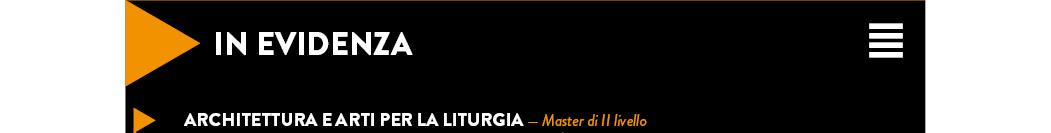 Architettura e Arti per la Liturgia — Master di II livello
