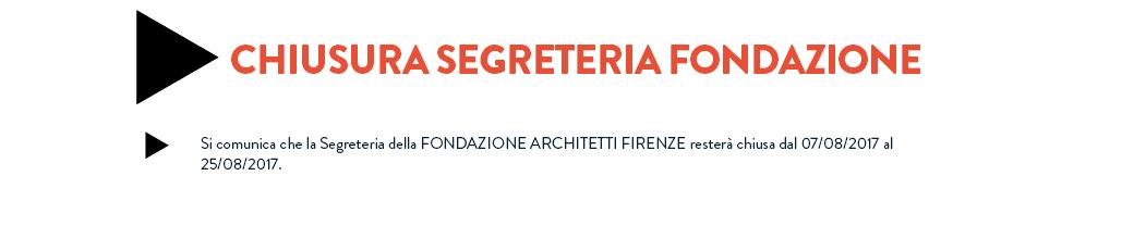 Chiusura Segreteria Fondazione
