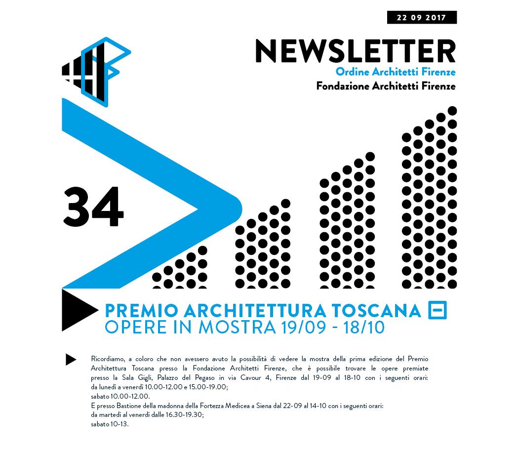 Premio Architettura Toscana Opere in mostra 19/09 - 18/10