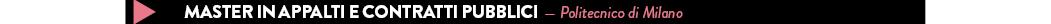 master in appalti contratti pubblici - PoliMi
