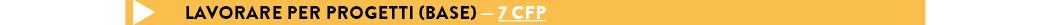 LAVORARE PER PROGETTI (BASE) — 7 cfp