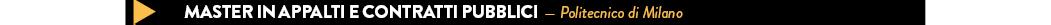 MASTER IN APPALTI E CONTRATTI PUBBLICI — Politecnico di Milano