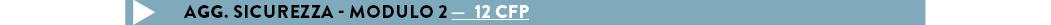 Agg. Sicurezza - modulo 2 —  12 CFP