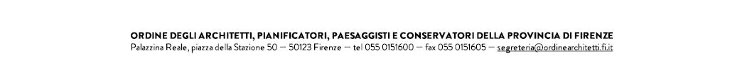 Ordine deli Architetti P.P.C della provincia di Firenze