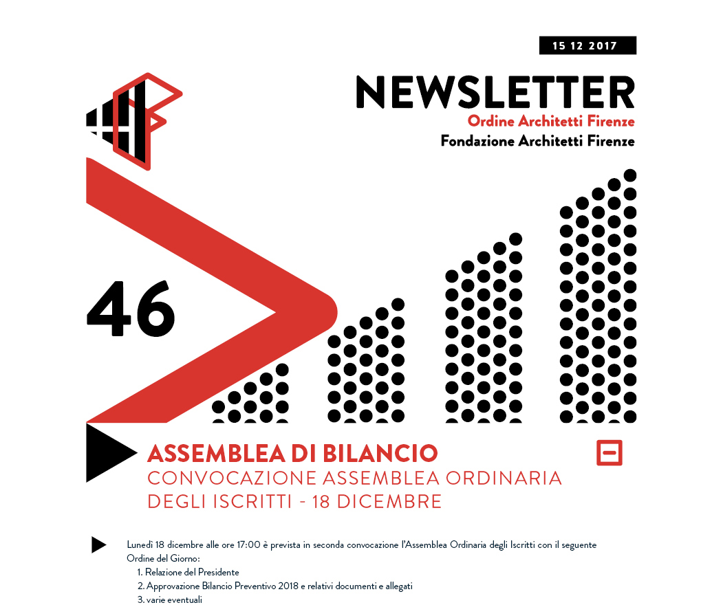 ASSEMBLEA DI BILANCIO CONVOCAZIONE ASSEMBLEA ORDINARIA DEGLI ISCRITTI - 18 dicembre