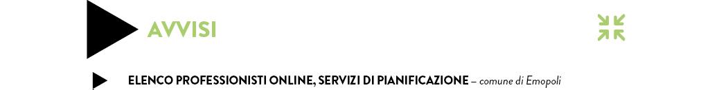 ELENCO PROFESSIONISTI ONLINE, SERVIZI DI PIANIFICAZIONE — comune di Emopoli