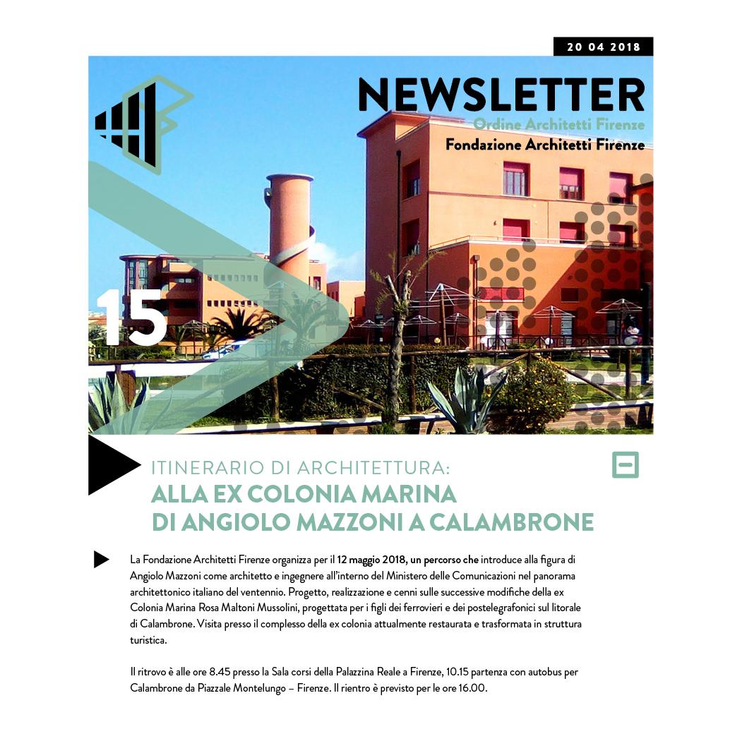 ITINERARIO DI ARCHITETTURA: ALLA EX COLONIA MARINA di Angiolo Mazzoni A CALAMBRONE