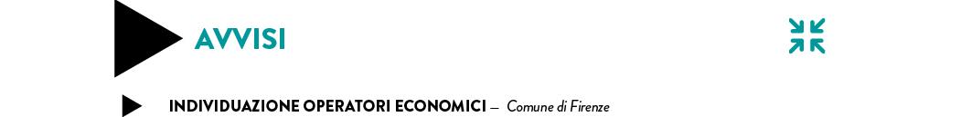 INDIVIDUAZIONE operatori economici —  Comune di Firenze