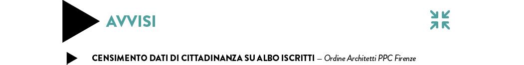 Censimento dati di cittadinanza su albo Iscritti — Ordine Architetti PPC Firenze