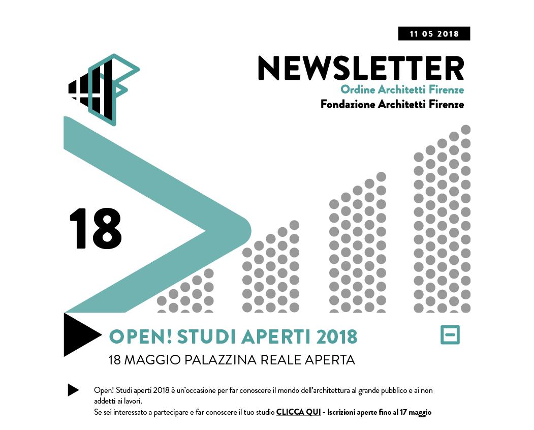 OPEN! STUDI APERTI 2018 18 maggio Palazzina Reale aperta