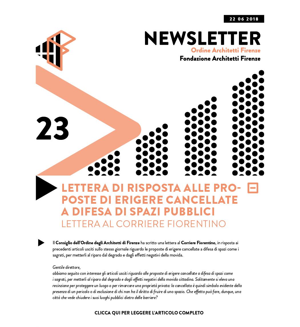 Lettera di risposta alle proposte di erigere cancellate a difesa di spazi pubblici Lettera al Corriere Fiorentino