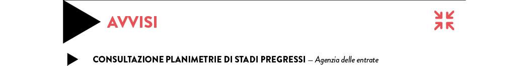 Consultazione planimetrie di stadi pregressi — Agenzia delle entrate