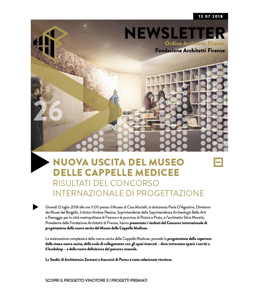 Nuova uscita del Museo delle Cappelle Medicee Risultati del concorso internazionale di progettazione
