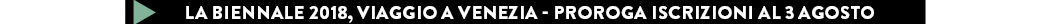 LA BIENNALE 2018, viaggio a venezia - proroga iscrizioni al 3 agosto