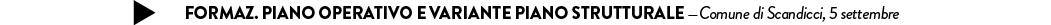 Formaz. Piano Operativo e variante Piano Strutturale —Comune di Scandicci, 5 settembre