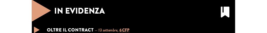 OLTRE IL CONTRACT — 13 settembre, 6 CFP