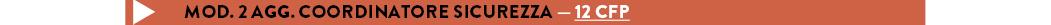 MOD. 2 AGG. COORDINATORE SICUREZZA — 12 cfp