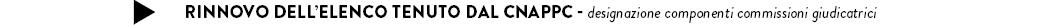 RINNOVO DELL'ELENCO TENUTO DAL CNAPPC - designazione componenti commissioni giudicatrici